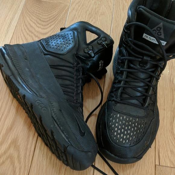 4b06da2ab7a Nike Zoom Superdome Sz7 All Black Hiking Boot